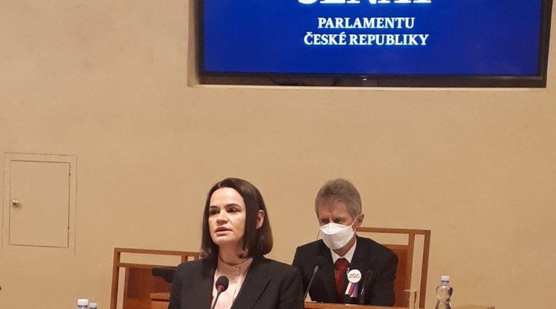 Svjatlana Cichanouská navštívila Senát
