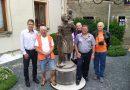 Slavnostní odhalení sochy sv. Kryštofa v Muzeu motocyklů
